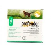 Profender капли на холку для кошек массой от 0,5 до 2,5 кг против круглых и ленточных гельминтов 1 пипетка 0,35 мл