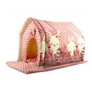 Домик для кошек и мелких собак 42×36×40 см
