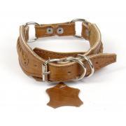 Ошейник кожаный для собак средних пород 35-43/3 см