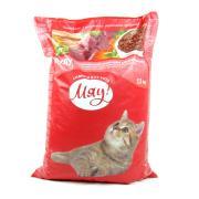 Мяу сухой корм для взрослых кошек с мясом, рисом и овощами (целый мешок 11 кг)