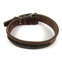 Ошейник кожаный для собак средних и крупных пород 32-52/4 см