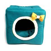 Трансформер домик-лежанка для кошек и мелких собак 40×40×40 см