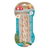 Скрученные палочки с куриным мясом для поддержания здоровья полости рта для собак весом от 2 до 12 кг, 10 шт