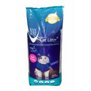 Van Cat комкующийся наполнитель с ароматом детской присыпки, 20 кг