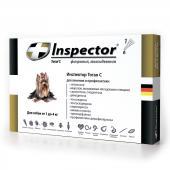 Inspector капли на холку от внешних и внутренних паразитов для собак от 1 до 4 кг