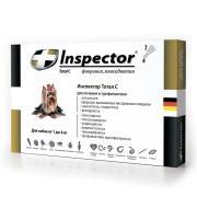 Inspector капли на холку от внешних и внутренних паразитов для собак от 1 до 4 кг, 1 пипетка