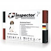 Inspector капли на холку от внешних и внутренних паразитов для собак от 10 до 25 кг