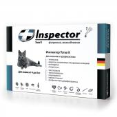 Inspector капли на холку от внешних и внутренних паразитов для кошек от 4 до 8 кг