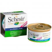 Schesir консервы для котят, курица с алоэ 85 г