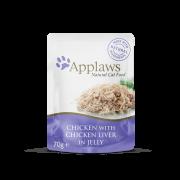 Applaws Tender Chicken Breast курица с печенью в желе, 70 г