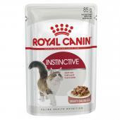 Royal Canin Instinctive полнорационный влажный корм для кошек старше одного года в соусе, 85 г