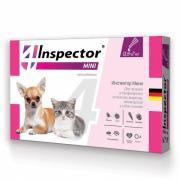 Inspector Mini капли на холку от внешних и внутренних паразитов для кошек и собак мелких пород, от 0,5 до 2 кг / 1 шт
