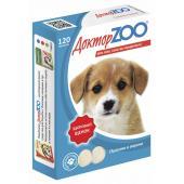 ДокторZOO полезное и вкусное лакомство для щенков с кальцием, фосфором и витамином Д3, 120 табл.