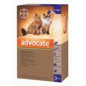 Advocate для котов массой от 4 до 8 кг эндоектоцид спот-он применения 1 пипетка 0,8 мл