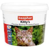 Витамины Beaphar Kitty's c таурином, Биотином, Протеином со вкусом сыра, 1 таб.