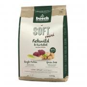 Bosch Soft Mini полувлажный беззлаковый корм для взрослых собак мелких пород с чувствительным пищеварением, склонных к аллергии и пищевой непереносимости с косулей и картофелем (целый мешок 2.5 кг)
