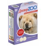 ДокторZOO полезное и вкусное лакомство с  биотином для собак со вкусом лосося, 90 табл.
