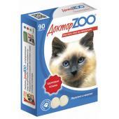 ДокторZOO полезное и вкусное лакомство для кошек с морскими водорослями, 90 табл.