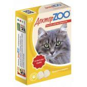 ДокторZOO полезное и вкусное лакомство с биотином для кошек со вкусом сыра, 90 табл.