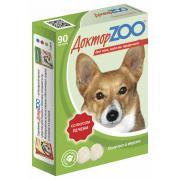 ДокторZOO полезное и вкусное лакомство с биотином для собак со вкусом печени, 90 табл.