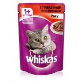 Whiskas рагу с говядиной и ягненком, 85 г