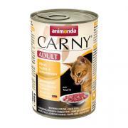 Carny Adult консервы с курицей, индейкой и утиными сердечками, 400 г