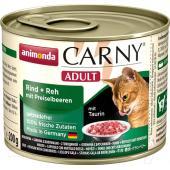 Carny Adult консервы с говядиной + оленина с брусникой, 200 г