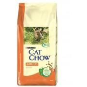 Cat Chow корм для взрослых кошек с курицей и индейкой (целый мешок 15 кг)
