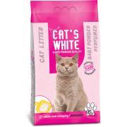 Cat's White комкующийся наполнитель с ароматом детской присыпки, 10 кг