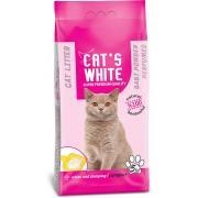 Cat's White комкующийся наполнитель с ароматом детской присыпки, 5 кг