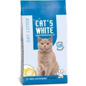 Cat's White натуральный комкующийся наполнитель, 20 кг