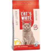 Cat's White натуральный комкующийся наполнитель, 10 кг