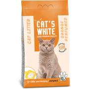 Cat's White комкующийся наполнитель с ароматом апельсина, 10 кг