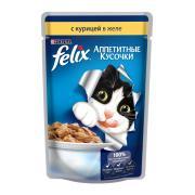 Felix аппетитные кусочки с курицей в желе