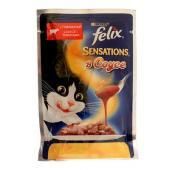 Felix Sensation с говядиной и томатами в соусе 85 гр