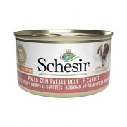Schesir паштет для взрослых собак курица с морковью, 85 г