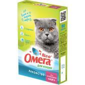 Омега Neo витамины-лакомство для кастрированных кошек с L-картинином, 90 таб.