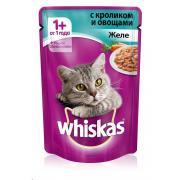 Whiskas желе с кроликом и овощами