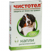 Чистотел репеллентные биокапли от блох для крупных собак, 2,5 мл, 1 пипетка