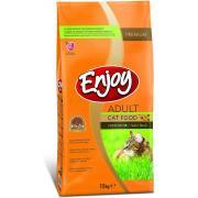 Enjoy Adult Cat витаминизированный сухой корм для кошек c добавками омега-3 и омега-6 (целый мешок 15 кг)