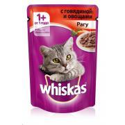 Whiskas рагу с говядиной и овощами