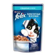 Felix аппетитные кусочки с форелью в желе