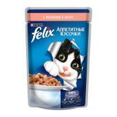 Felix аппетитные кусочки с лососем в желе