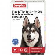Beaphar Flea & Tick ошейник от блох и клещей для собак средних пород, синий, 65 см