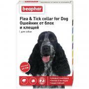 Beaphar Flea & Tick ошейник от блох и клещей для собак средних пород, красный, 65 см