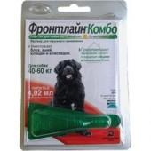 Фронтлайн Комбо раствор для наружного применения против вшей, блох, власоедов и клещей для собак массой от 40 до 60 кг 4,2 мл