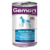Gemon Adult Maxi Tuna полнорационный корм с кусочками на основе тунца, для взрослых собак крупных пород, высокого премиального класса 1250 гр