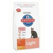 Hill's Science Plan Adult Light для взрослых кошек с курицей - контроль веса 4214M (целый мешок 5 кг)