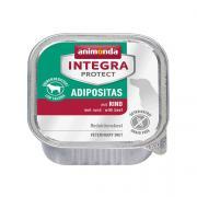 Animonda Integra Protect Adipositas  влажный диетический корм для кошек для профилактики избыточного веса с говядиной.