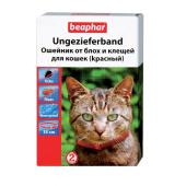 Beaphar ошейник от блох и клещей для кошек (красный) 35 см